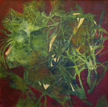Im Netz der Gedanken (60x60 in Öl)