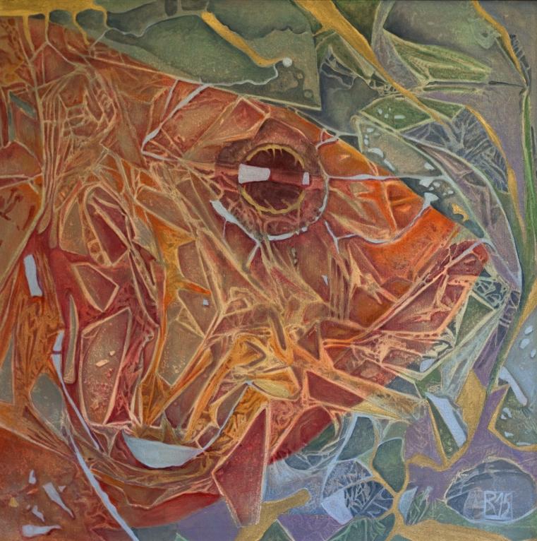 Wie ein Fisch im Wasser (60x60 in Öl)