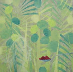 Tropische Versuchung, Öl, 100x100