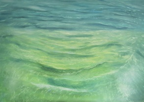 Wasser Impression, Öl, 60x100